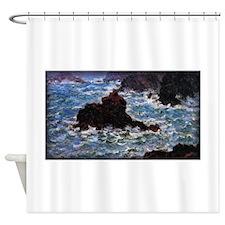 Belle-Ile, Rain Effect, Monet, Shower Curtain