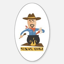 Texas Chili Oval Decal