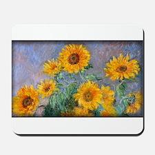 Bouquet of Sunflowers, Monet, Mousepad