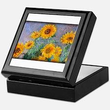 Bouquet of Sunflowers, Monet, Keepsake Box