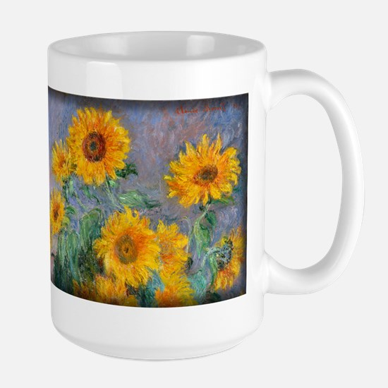 Bouquet of Sunflowers, Monet, Large Mug
