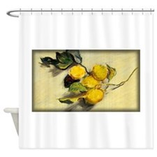 Monet Painting, Branch of Lemons, Shower Curtain