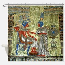 Tutankhamons Throne Shower Curtain