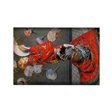 Camille Monet in Japanese Costume, Rectangle Magne