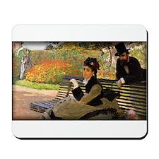 Camille Monet on a Garden Bench, Mousepad