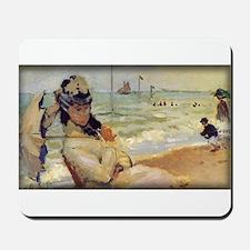 Camille on the Beach, Monet, Mousepad