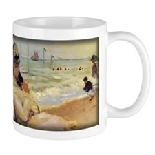 Camille on the Beach, Monet, Mug