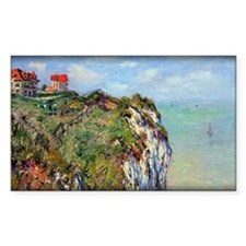 Monet Painting, Cliff at Dieppe, Decal