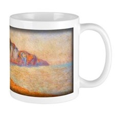 Cliff at Pourville in the Morning, Monet, Mug