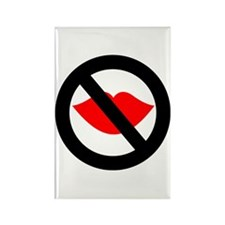 No Kissing The Cook Rectangle Magnet