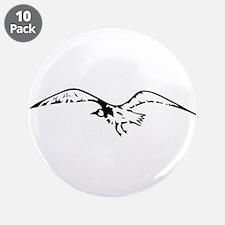 """Cute Au naturel 3.5"""" Button (10 pack)"""