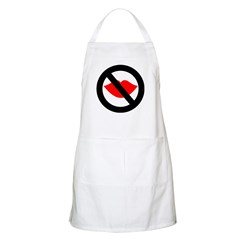 No Kissing The Cook BBQ Apron
