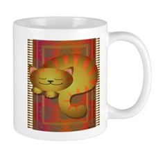 Cat on the red mat Mug