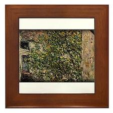 Monet Painting, Farmyard, 1878, Framed Tile