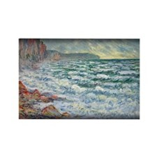 Monet Painting, Fecamp, Rectangle Magnet