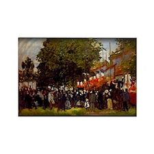 Festival at Argenteuil, Monet, Rectangle Magnet
