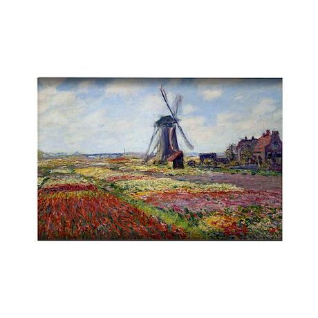 Fields of Tulip With The Rijnsburg Windmill, Monet