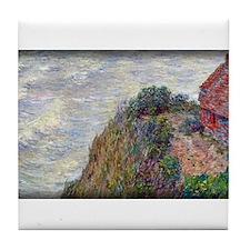 Fisherman`s House, Petit-Ailly, Monet Tile Coaster