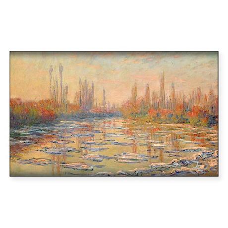Floating Ice on the Seine 02, 1880, Monet, Sticker