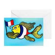 French Flag Fish Greeting Card