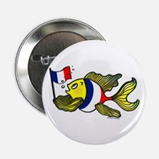 "French Flag Fish 2.25"" Button (10 pack)"