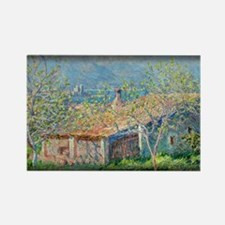 Gardener's House at Antibes, Monet, Rectangle Magn