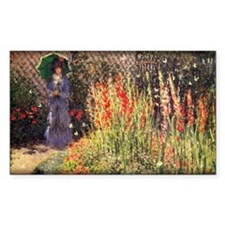 Monet Painting, Gladioluses, 1876, Decal