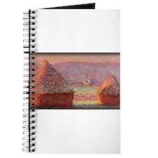 Haystacks - White Frost, Sunrise, Monet, Journal