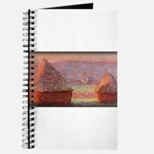 Haystacks - White Frost, Sunrise, Monet, Journal