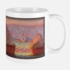 Haystacks - White Frost, Sunrise, Monet, Mug
