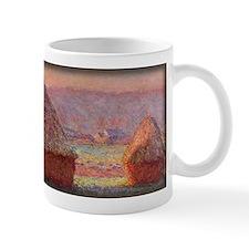 Haystacks - White Frost, Sunrise, Monet, Mug