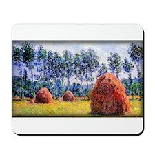 Monet Painting, Haystacks at Giverny Mousepad