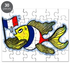 French Flag Fish Puzzle