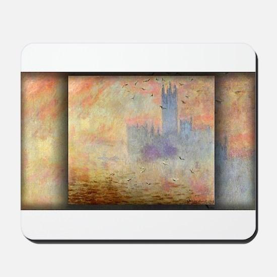 Houses of Parliament, Seagulls, Monet Mousepad