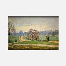Monet Painting, Hyde Park, Rectangle Magnet