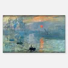 Impression, Sunrise, Monet, Sticker (Rectangle)