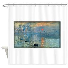 Impression, Sunrise, Monet, Shower Curtain