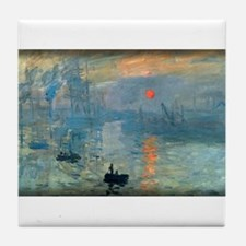Impression, Sunrise, Monet, Tile Coaster