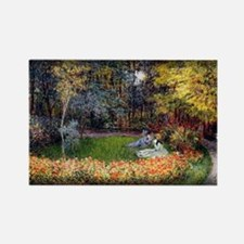 Monet Painting, In the Garden, 1875, Rectangle Mag