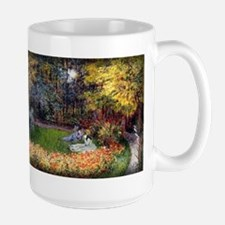 Monet Painting, In the Garden, 1875, Large Mug