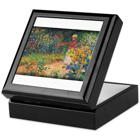 Monet Painting, In the Garden, 1895, Keepsake Box