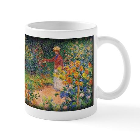 Monet Painting, In the Garden, 1895, Mug
