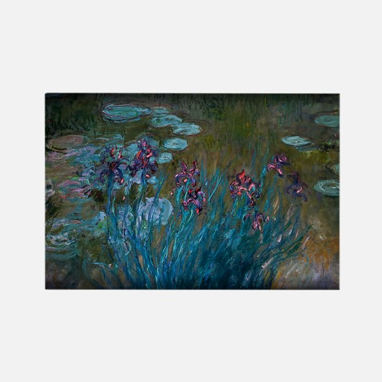 Irises and Water-Lilies Monet, Rectangle Magnet