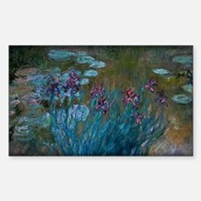 Irises and Water-Lilies Monet, Decal