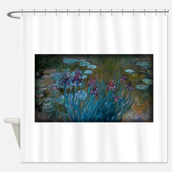 Irises and Water-Lilies Monet, Shower Curtain