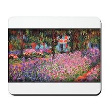 Irises in Monet's Garden 01 Monet, Mousepad