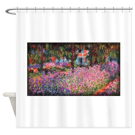 Irises in Monet's Garden 01 Monet, Shower Curtain