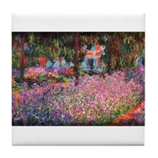 Irises in Monet's Garden 01 Monet, Tile Coaster