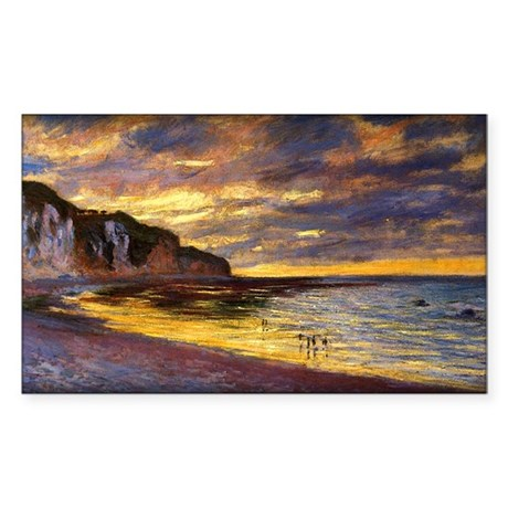 L'Ally Point, Low Tide, Monet, Sticker (Rectangle)
