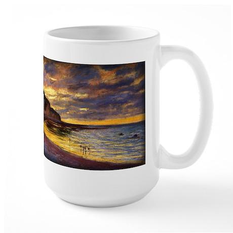 L'Ally Point, Low Tide, Monet, Large Mug